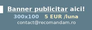 Banner web publicitar doar cu 5.00 EUR lunar!